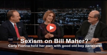 Carly Fiorina calls out Bill Maher's panelists for sexism on Real Time