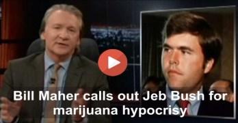 Bill Maher slams Jeb Bush as a hypocritical past marijuana smoker & dealer