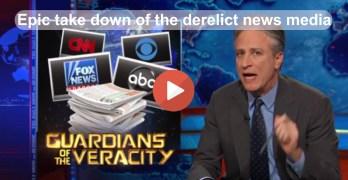 Jon Stewart epic slam of the Mainstream Media News in Brian Williams lie (VIDEO)