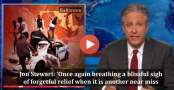 Jon Stewart explains the Baltimore political & media fraud