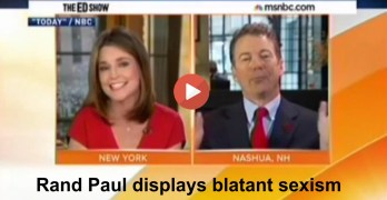 Rand Paul displays blatant sexism