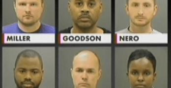 Baltimore Police officer mugshots Freddie Gray