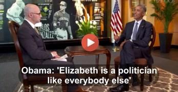 Elizabeth Warren President Obama