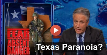 Jon Stewart on Texas' new insanity 'What would Rick Perry Do'