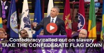 President Obama calls out the confederacy as he urges Confederate Flag removal