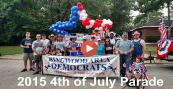 Kingwood Area Democrats in 2015 4th of July Parade  (VIDEO)