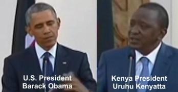 President Obama President Barack Obama President Uruhu Kenyatta