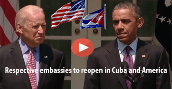 US, Cuba Make Embassy Announcements: Americans Support Ending Cuba Trade Embargo (VIDEO)