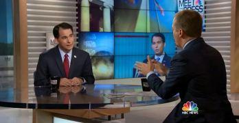 Chuck Todd grills Scott Walker but gave him a platform to deceive (VIDEO)