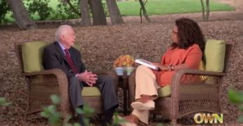 President Jimmy Carter explains to Oprah why we are not a democracy