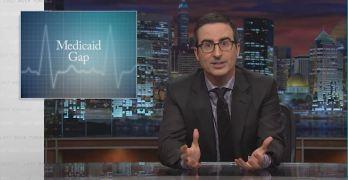 John Oliver slams Republicans GOP on Medicaid Gap.