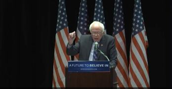 Bernie Sanders major Wall Street Speech in New York.