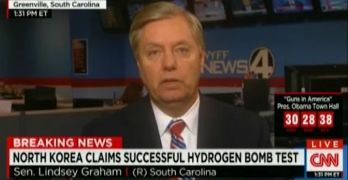 Lindsey Graham encourages North Korea's nuclear program (VIDEO)