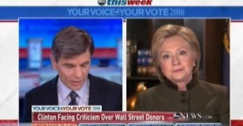 Hillary Clinton, Elizabeth Warren, George Stephanopoulos