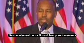 Ben Carson implies that God told him to endorse Donald Trump (VIDEO)