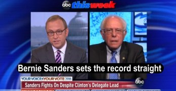 Bernie Sanders correct the false narrative