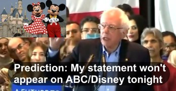 Sanders challenges Disney and ABC