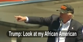 Donald Trump Look at my African American