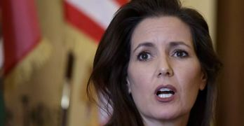Oakland's mayor, Libby Schaaf. Another Oakland police chief has stepped down amid a sex scandal Schaaf said involved 'disgusting allegations'.