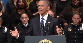 President Obama's exceptional speech at Police Memorial