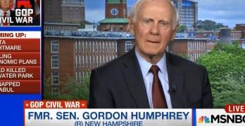 Former GOP Senator Gordon Humphrey calls on RNC to revoke Donald Trump's Presidential candidacy (VIDEO)