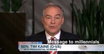 Democratic VP Candidate: 5 reasons millennials should vote Clinton/Kaine ticket (VIDEO)