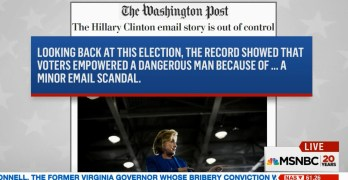 email emails Washington Post now call it a minor email scandal, Ya Think
