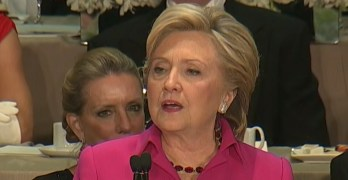 Hillary Clinton's speech at Al Smith benefit dinner jabbed Trump just right (VIDEO)