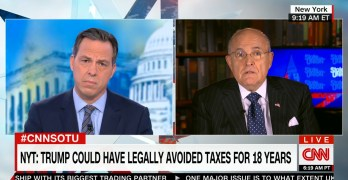 Jake Tapper's journalism continues: Hits Rudy Giuliani for Trump tax dodging / bad business (VIDEO)