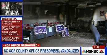 Republican North Carolina campaign office firebombed