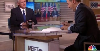 Chuck Todd to Mike Pence: 'Hitting the media is always a crutch for you guys' (VIDEO)