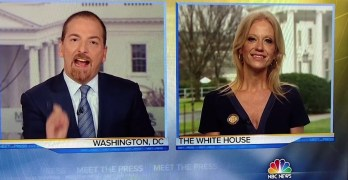 Chuck Todd rattles Kellyanne Conway on falsehoods - You just laughed at me (VIDEO)