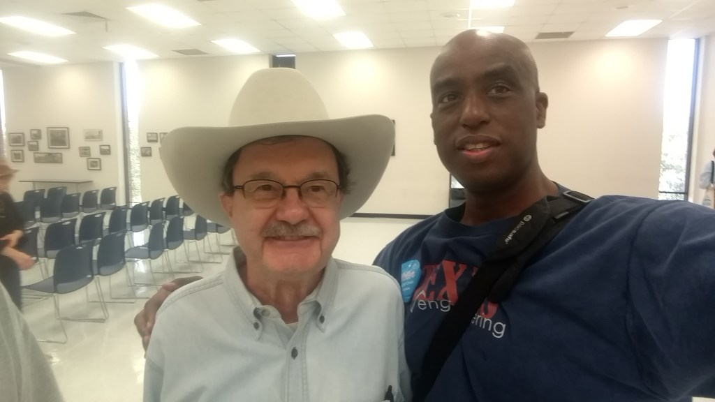 Egberto Willies & Jim Hightower at Our Revolution Texas Gulf Coast Region Kickoff a big success