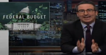 John Oliver mocks Trump's budget & the ludicrous justifications for its draconian cuts (VIDEO)