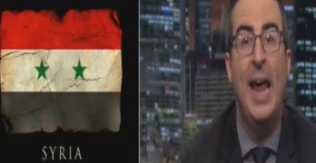 John Oliver rips media & politician's orgasmic reaction to Trump's Syria attack (VIDEO)