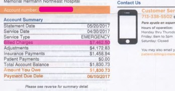 RIPOFF - My wife $7500 ER bill for pneumonia diagnosis - Single-Payer a must 2