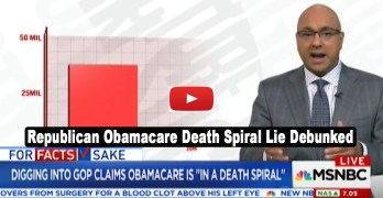 MSNBC Ali Velshi debunks Republican lie that Obamacare is in a death spiral (VIDEO)