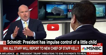 Steve Schmidt 71-year-old president who has an impulse control of a little child (VIDEO)