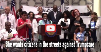 Texas Congresswoman Sheila Jackson Lee calls for citizens to hit the streets against Trumpcare