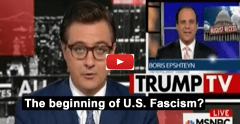 Chris Hayes exposes the start of a Trumpiam fascist local media takeover