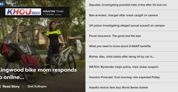 Kingwood mom who caused a stir biking her kids to school featured on KHOU (VIDEO)