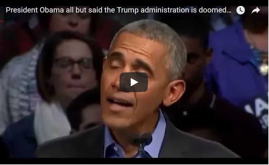President Obama all but said the Trump administration is doomed to failure (VIDEO)