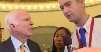 Senator John McCain slams Fox News reporter Why would you say something that stupid