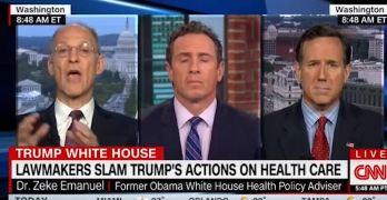 Zeke Emanuel & Rick Santorum go at it over Trump's Obamacare sabotage (VIDEO)