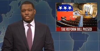 SNL Michael Che & Colin Jost turns Republican tax cut scam into the joke it is