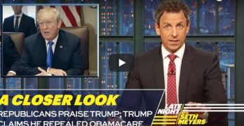 Seth Meyers skewers the President and GOP over tax cut scam