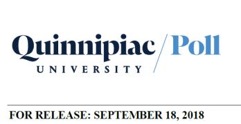 Quinnipiac University Poll Texas Senator & Governor Sep. 18th, 2018