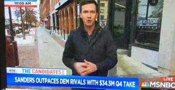 MSNBC reporter ecstatic with Bernie Sanders prospects
