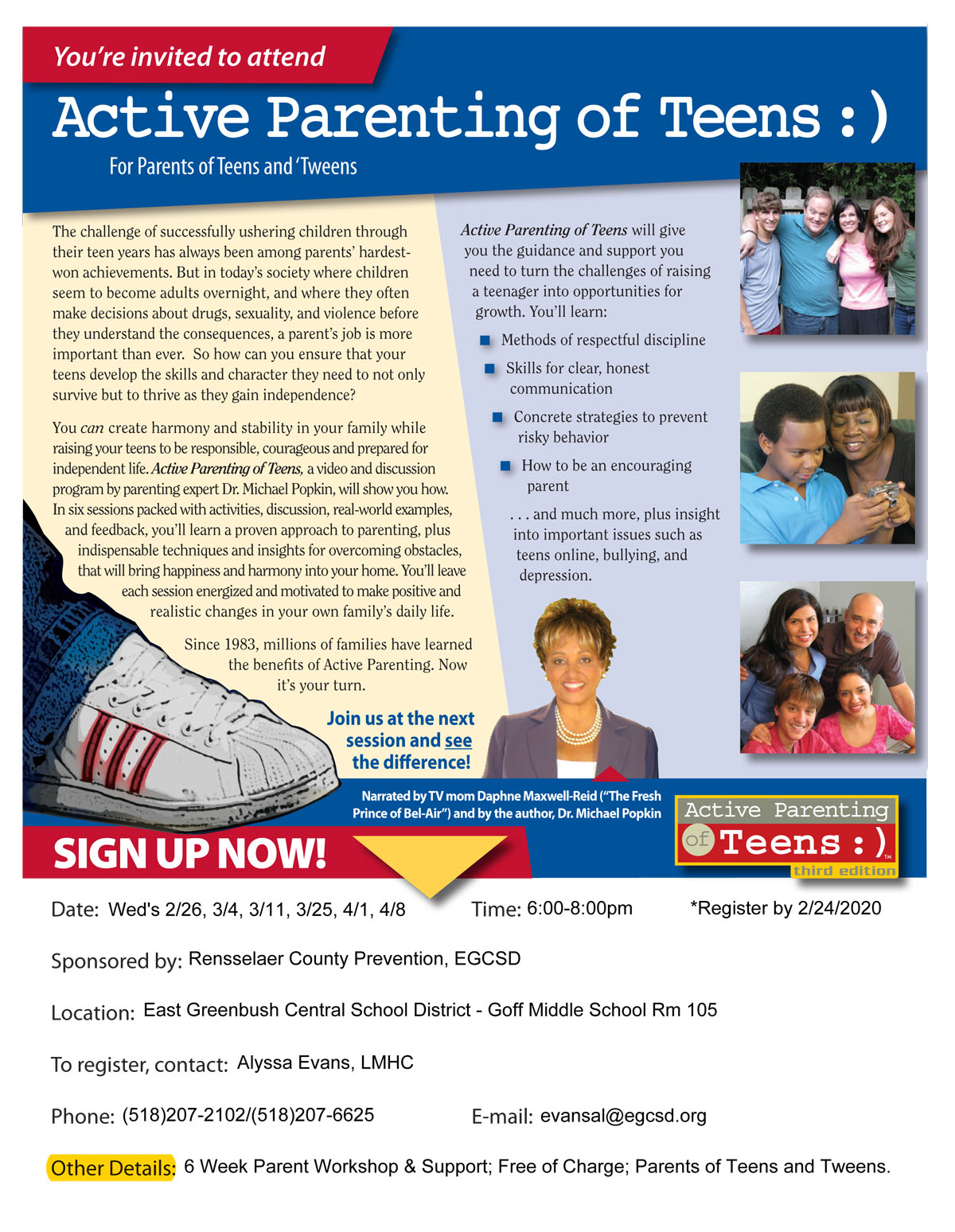 District To Host Free Active Parenting Workshops