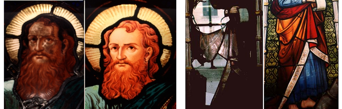 EGD Glass Toronto Stained Glass Restoration Before and After